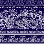Lace Bordure Seamless Vector Pattern Design