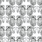 Doodle Flower Damask Repeating Pattern