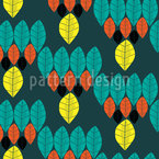 Modern Leaves Seamless Vector Pattern Design