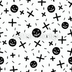 Scary Pumpkins And Crosses Pattern Design