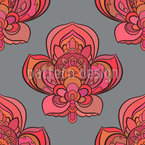 Nice Oriental Blossoms Seamless Vector Pattern Design