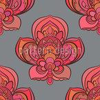Schöne orientalische Blüten Vektor Design