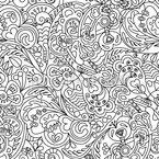 Harmonische Linien Nahtloses Vektormuster