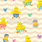 Easter Chicks Seamless Vector Pattern Design