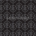 Geometric Tree Seamless Vector Pattern Design