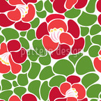 Spring Petals Seamless Vector Pattern Design