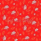 Rowan Winter Berry Seamless Vector Pattern Design