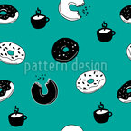 Monday Breakfast Seamless Vector Pattern Design