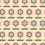 Geordnetes Blumenbeet Nahtloses Muster