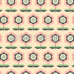 Orderly Flower Bed Seamless Pattern
