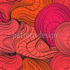 Organische Wellen Nahtloses Vektor Muster
