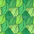 Welliger Blättertanz Nahtloses Vektormuster