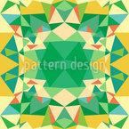Polygon Kaleidoscope Seamless Vector Pattern Design