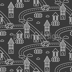 Night Village Pattern Design
