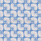 Scallop Palmette Seamless Vector Pattern