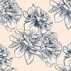 Antike Blüte Nahtloses Vektormuster