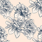 Antique Blossom Repeating Pattern