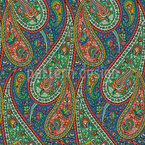 Paisley filigrana Estampado Vectorial Sin Costura