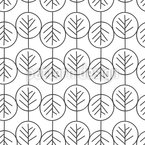 Geometric Branches Seamless Vector Pattern Design