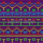 Knitted With Love Seamless Vector Pattern Design