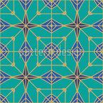Geometrische Konstellationen Vektor Ornament