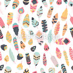 Ethno Feather Collection Seamless Vector Pattern Design
