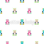 Bears for Cuddle Seamless Vector Pattern Design
