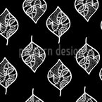 Ornamental Filigree Leaves Seamless Vector Pattern Design