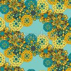 Collage aus Papierblumen Rapportmuster