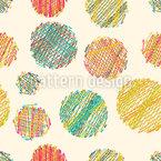 Bola De Lã Design de padrão vetorial sem costura