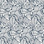 Florale Spuren Musterdesign
