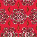 Blumenherz Mandala Nahtloses Muster