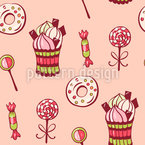 Zuckersüß Nahtloses Vektor Muster