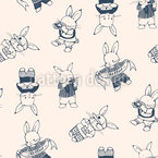 Bunny Character Repeating Pattern