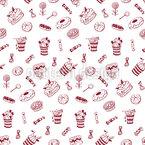 Mehr Süßigkeiten Nahtloses Vektormuster