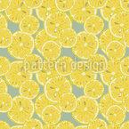 Saftige Zitronenscheiben Nahtloses Vektormuster