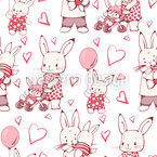 Bunny Family Repeating Pattern