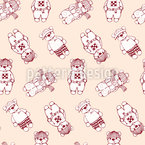 Hello Teddy Pattern Design