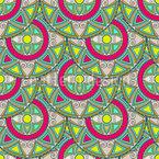 Mandala Kreise Rapportiertes Design