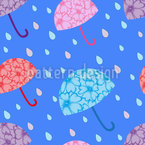 Aufwändige Blumen Regenschirme Rapportmuster