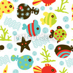 Waterworld In Winter Seamless Vector Pattern Design