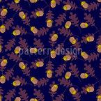 Eicheln mit Eichenlaub Nahtloses Muster