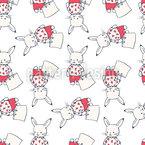 Süße Hasen Nahtloses Vektor Muster