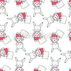 Sweet Bunnies Seamless Vector Pattern Design
