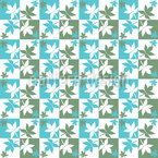 Checkerboard Leaves Repeating Pattern