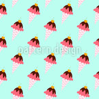 Icecream Cones Seamless Vector Pattern Design