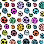Pop Art Soccer Balls Vector Pattern