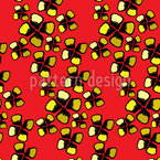 Cheetah Petals Seamless Vector Pattern Design