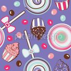 Кукиду Фиолетовый Бесшовный дизайн векторных узоров