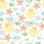 Baby Meereswelt Musterdesign